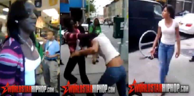Light Skinned Chick Gets Poundcaked For Talking Too Much Crap To A Dark Skinned Sista!f(Video) #GoTeamMelanin