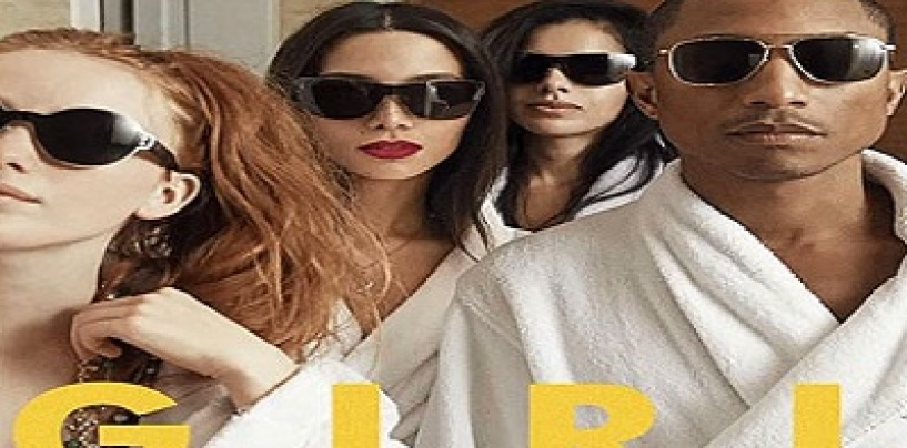 Skateboard P Pharrell's All White 'G I R L' Album Cover Gets Black Beasties & Hair Hats Angry! (Video)