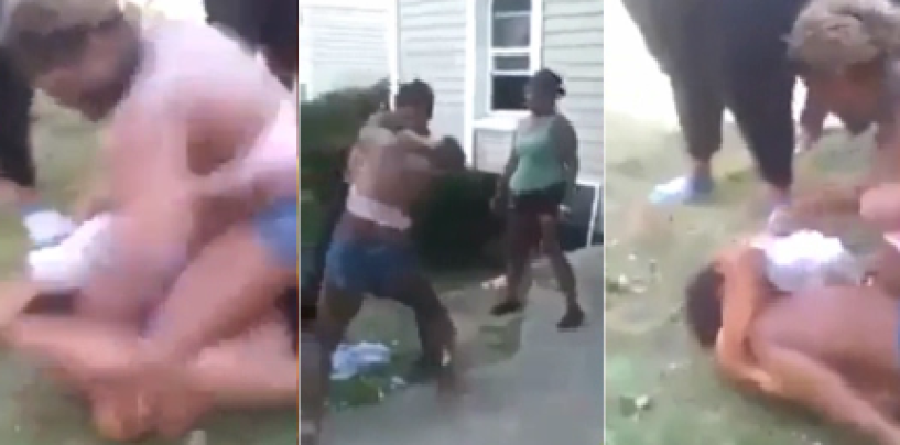 Beastie Woman Or Sissy Beats Up Black Dude While Black Women Cheer It On!