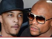 Floyd Mayweather & Rapper T.I. Fight Over Wife Tiny At A Las Vegas Fat Burger! (Video)