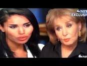 "Donald Sterling's Halfbreed Slwhore Defends Him To Barbara Walters Saying ""He Is Not Racist""! Must See! (Video)"