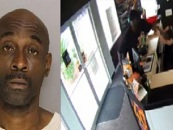 Black Florida Man Viciously PoundCakes Pregnant Snow Queen In Boost Mobile Robery Caught On Video! (Video)