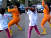 Hair Hatted Hoodrat Chicago Mom In Twerking Contest With Her Own Daughter!! (Video)