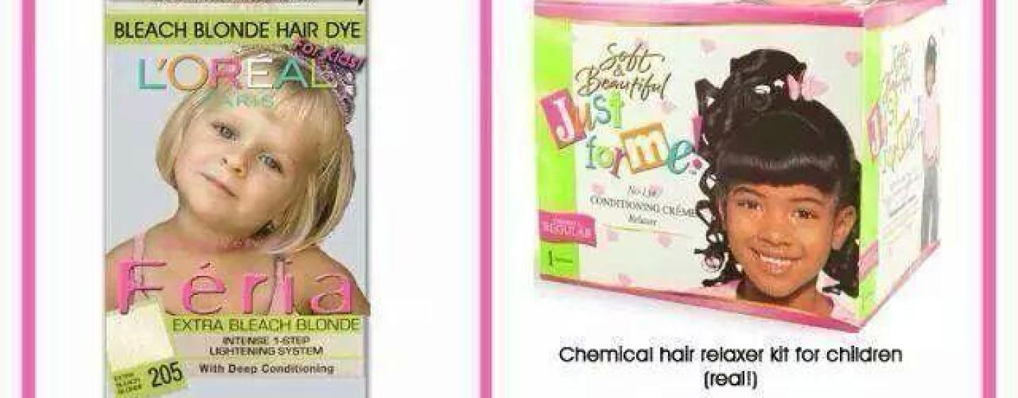Why Is Society OK With Chemical Hair Products For White Kids But Not ...