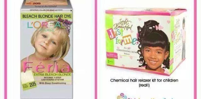 Why Is Society OK With Chemical Hair Products For White Kids But Not Black Kids? (Video)