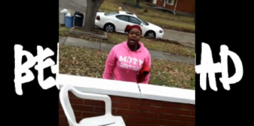 """Big Black Beastie Destroys Racist Whites House Because They Called Her """"N*gger""""! #IShitUNot (Video)"""