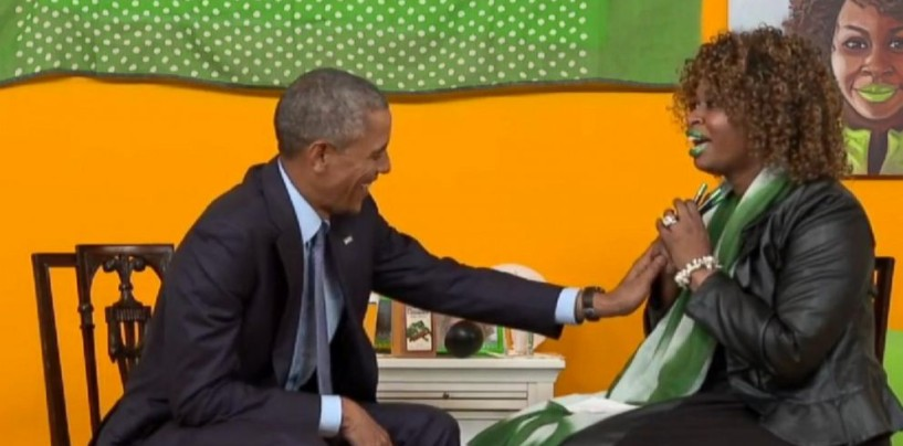 Youtube Star Glozell Green's Interview With Obama Proves Once Again Why Black Women Are A Joke! (Video)