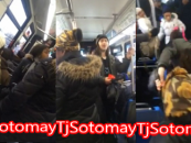 Group Of Black Chimps Poundcake White Boy For Mouthing Off On NYC Bus! (Video)