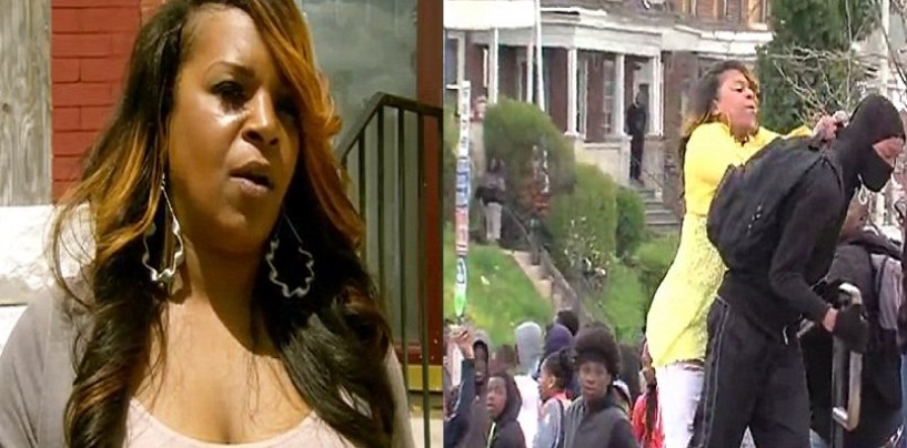 Hair Hatted Hoodrat Mom Explains Why She Beat Her Son For Rioting In Baltimore On National TV! (Video)