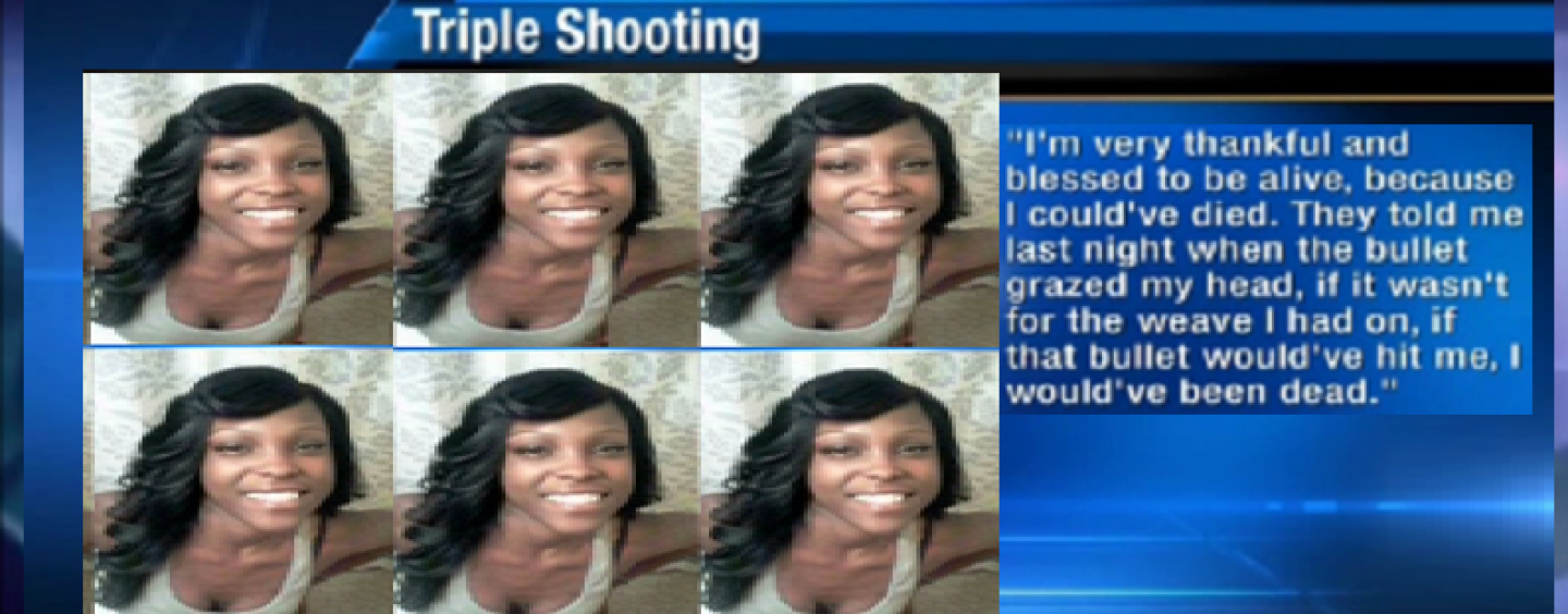 Florida Hair Hatted Hooligan's Weave Stopped A Bullet From Hitting Her In The Head! #IShitUNot (Video)