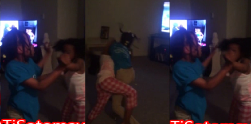 2 Lil Black Girls Fight Over Who Touched Who First! Making Of The BT-1000 DSE (Video)