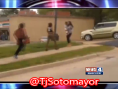 3 BT-1000 DSE's Stomp, Kick & Poundcake A Teen Carrying A Baby Caught On Tape! (Video)