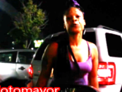 Black Chick Spits & Punches At A Man & His Family Calling Them Honkies! Where Is Al Sharpton? (Video)