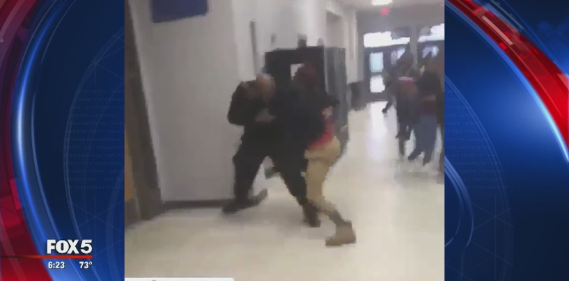 Another Black Student Squares Off With In School Security Officer Yet Again No Outrage..Why? (Video)