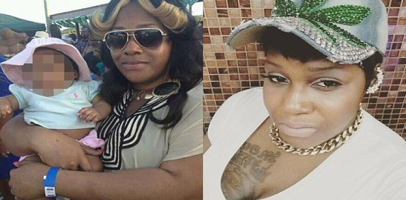 Black Whore Breeder Of 4 Throws Her 6 Month Old Baby Off A Balcony To Its Death! (Video)