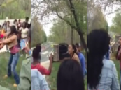 Mom Tries To Stop Brawl With Her Daughter Mob Of Darkbutts Ends Up Getting PoundCaked Herself! (Video)