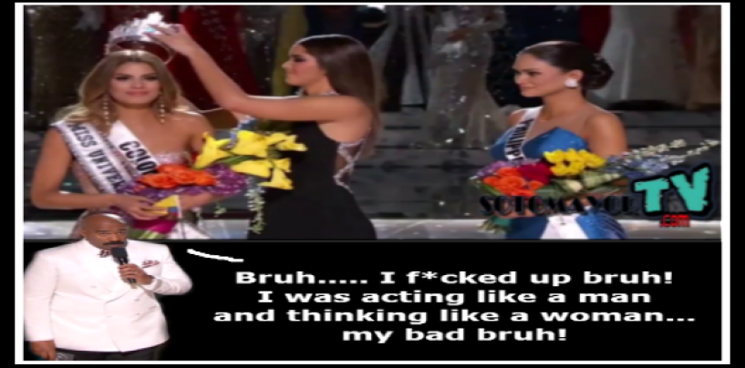 #ISHITUNOT: Host Steve Harvey F*CKS Up Miss Universe Announcement! (VIDEO)
