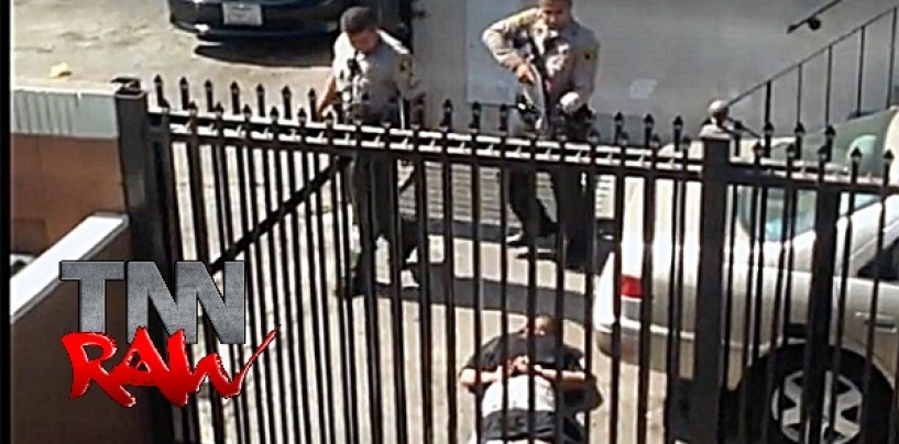 LAPD Officer Shoots Partner, Blames Handcuffed Suspect Before Shooting Him Dead On Video! (Video)