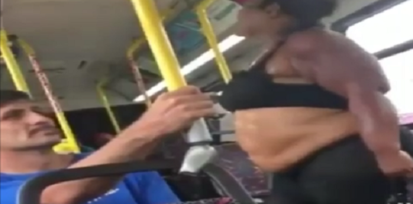 2 Black Beast Go At It On The Bus Before Simp Comes To The Rescue! (Video)