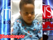 5 Yo Son Of Jackazz Mulatto Mom Korryn Gains Speaks Out From His Hospital Bed! (Video)