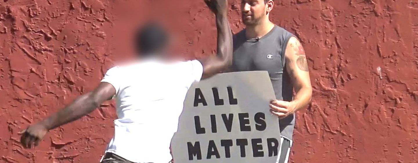 YouTuber Joey Salads Savagely Attacked By Blacks Over Holding Up An All Lives Matter Sign! (Video)