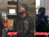 Big Black Shitcago Ghetto Beast Blast Barber Over Kids Hair & Police Have to Intervene! (Video)