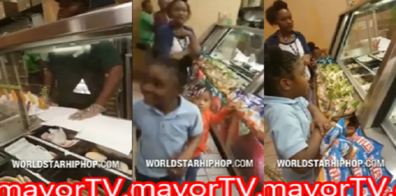 HoodTrash BT-900 Cusses Out Subway Employee & Threatens His Life In Front Of Her Kids! (Video)