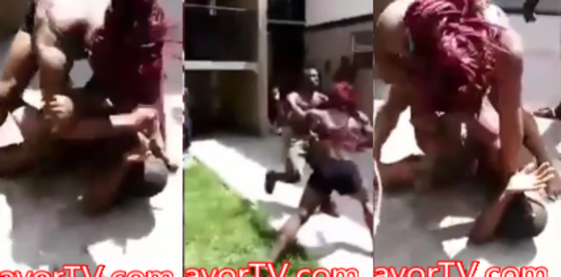 Muscle Bound Black Chick Manhandles Her Boyfriend In Hand To Hand PoundCake Duel! (Video)