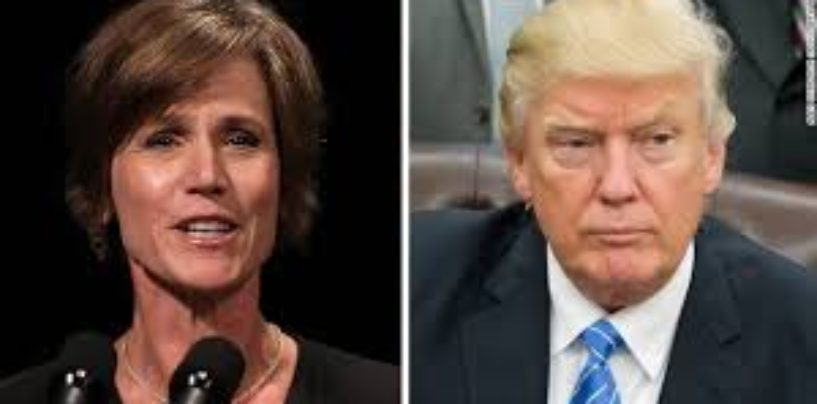 Donald Trump Fires Acting AG For Putting American Citizens Safety At Risk! (Video)