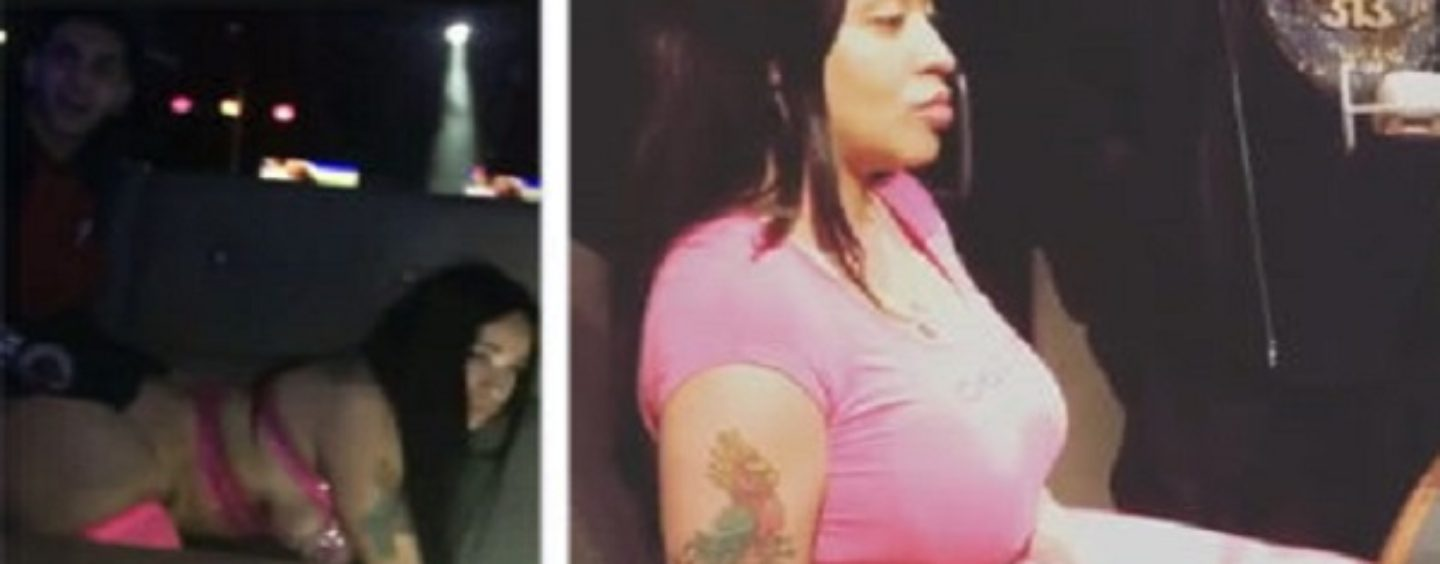 Light Skinned Stripper Filmed Getting SMASHED FROM BEHIND By White Patron Now Lies About It! (Video)