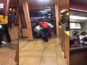BT-Lemmem Hunnit Jack In The Box Brawl Between Black Hair Hatted Customers & Staff Over Service! (Video)
