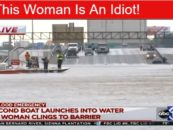 INSANE Women Refuses Rescue & Jumps Back Into Flood Waters During Hurricane Harvey!