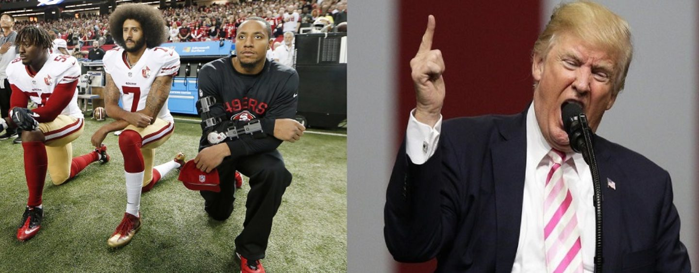 Your Thoughts On Donald Trump Calling NFL Players SOB's & Telling Fans To Boycott? 213-943-3362 (Video)