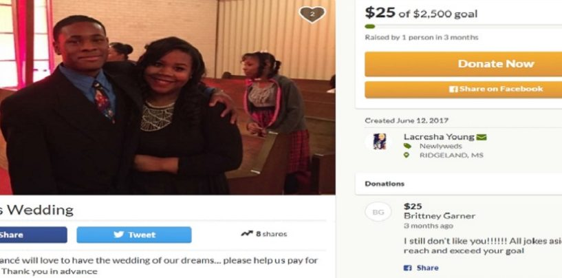 Dear LaCresha Young, Why Are You Begging For Money On GoFundMe To Pay For Your Weeding?