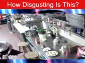 White Chick Takes Customer Hotdog & Inserts It In Her Whoha Then Serves It! (Video)