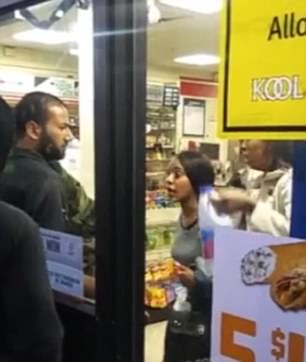 Two women accused of shoplifting were detained in a 7-Eleven in Philadelphia