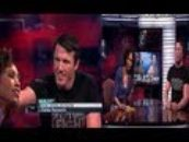 Sage Steele & Chael Sonnen Awkard Hair Touching Moment As Sage Gets Wet Over It!