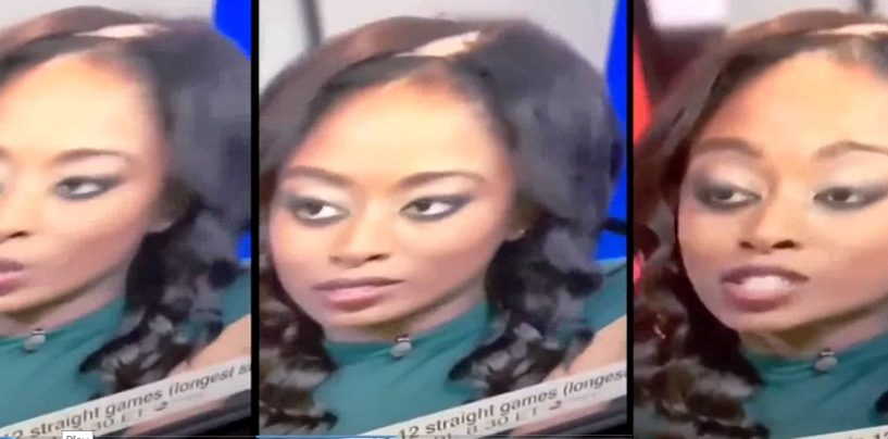 Black Female ESPN Sportscenter Host Has A Wig Malfunction Live On Air! Hilarious (Video)
