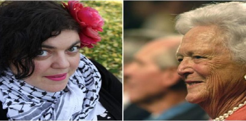WhaleSized College Professor Randa Jarrar Celebrates The Death Of Barbara Bush In Front Of Classroom! (Video)